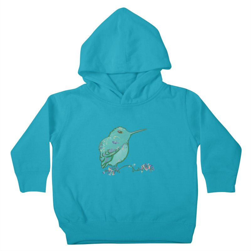 Tiny Hummingbird (Light Green) Kids Toddler Pullover Hoody by VanillaKirsty's Artist Shop