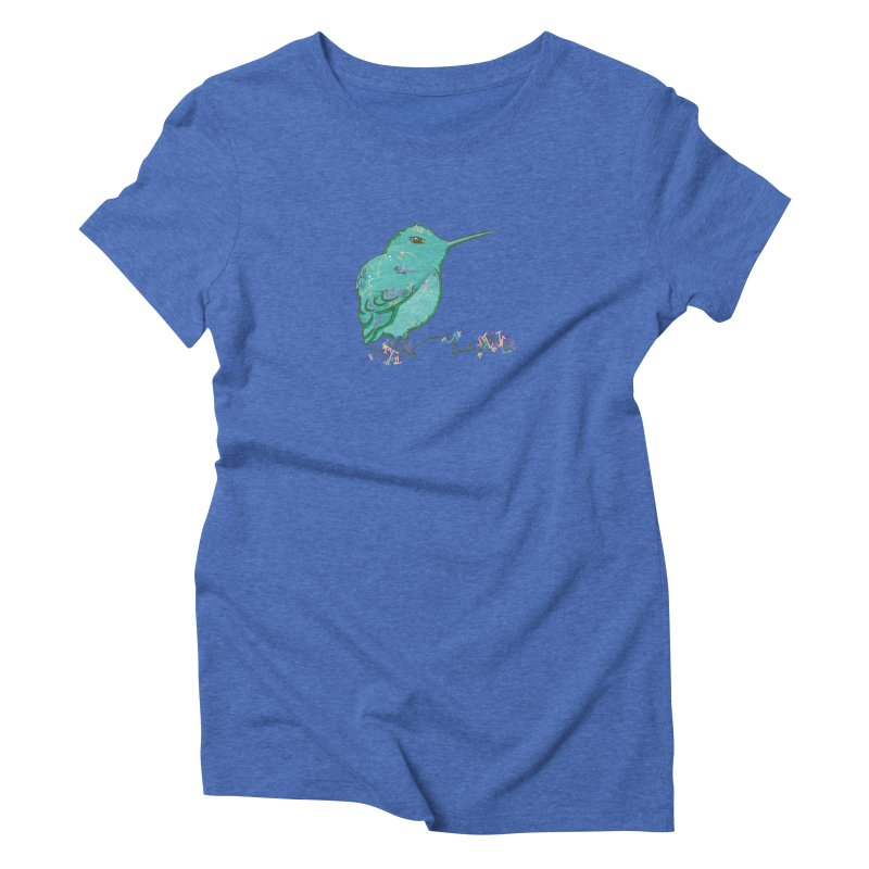 Tiny Hummingbird (Light Green) Women's Triblend T-Shirt by VanillaKirsty's Artist Shop