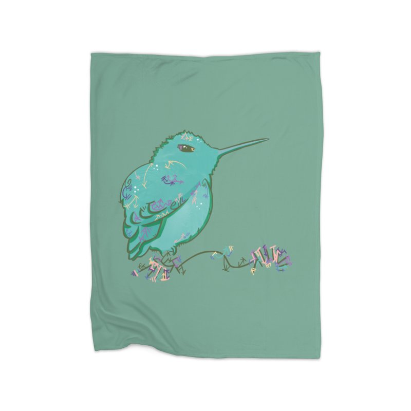 Tiny Hummingbird (Light Green) Home Blanket by VanillaKirsty's Artist Shop