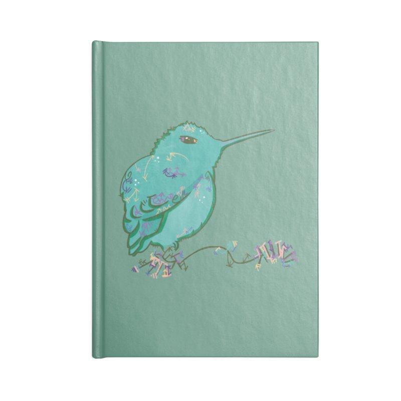 Tiny Hummingbird (Light Green) Accessories Notebook by VanillaKirsty's Artist Shop