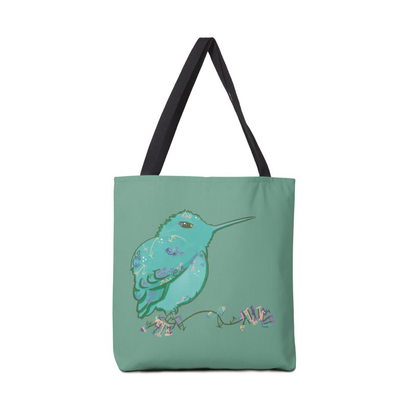 Tiny Hummingbird (Light Green) Accessories Bag by VanillaKirsty's Artist Shop