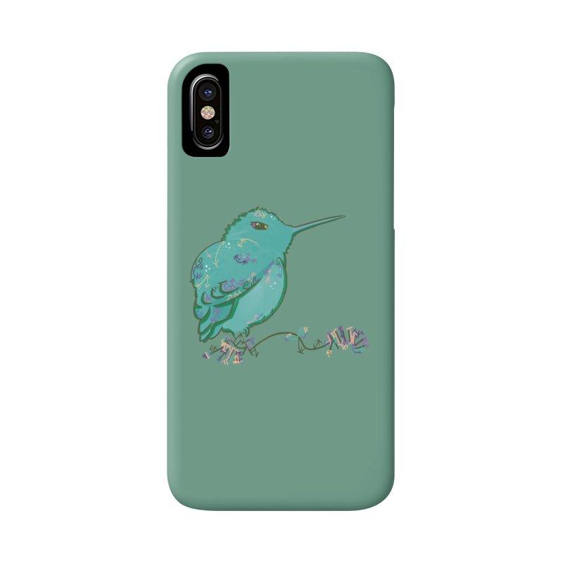 Tiny Hummingbird (Light Green) Accessories Phone Case by VanillaKirsty's Artist Shop