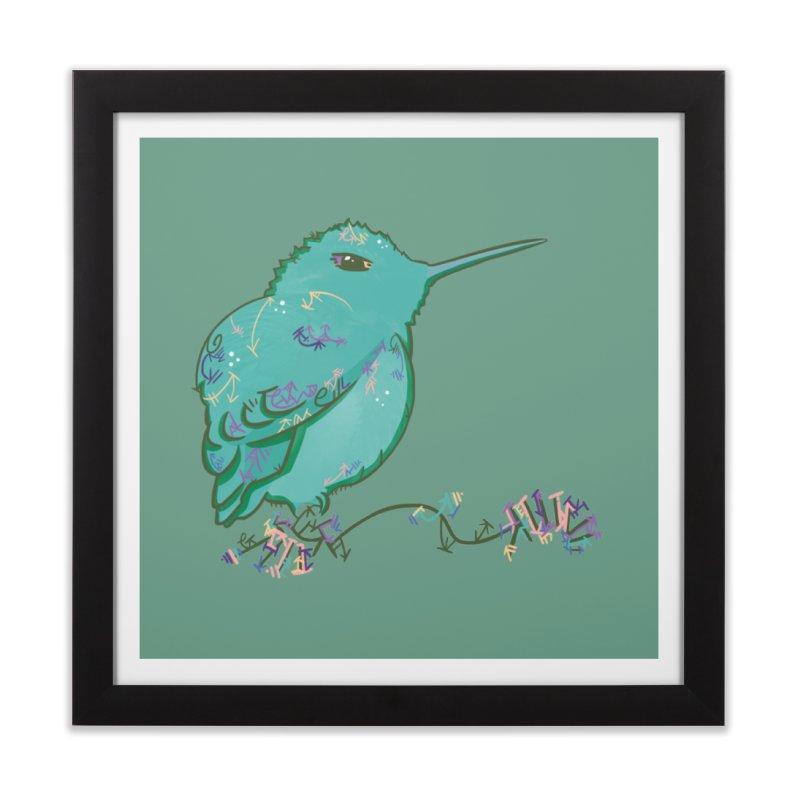 Tiny Hummingbird (Light Green) Home Framed Fine Art Print by VanillaKirsty's Artist Shop