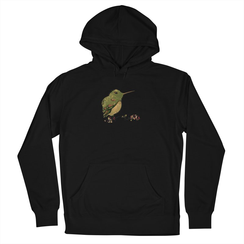 Tiny Hummingbird (Olive) Women's Pullover Hoody by VanillaKirsty's Artist Shop