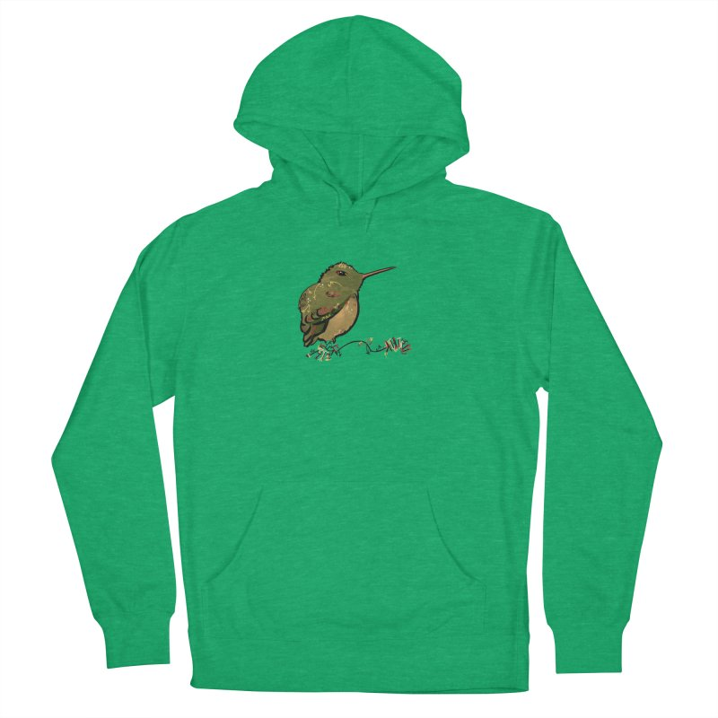 Tiny Hummingbird (Olive) Men's Pullover Hoody by VanillaKirsty's Artist Shop