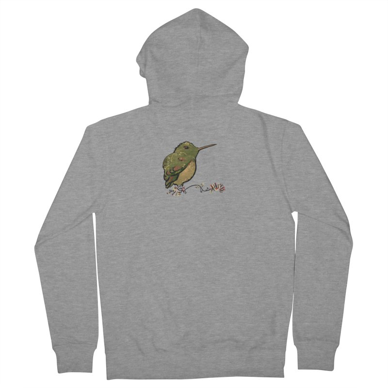 Tiny Hummingbird (Olive) Women's Zip-Up Hoody by VanillaKirsty's Artist Shop