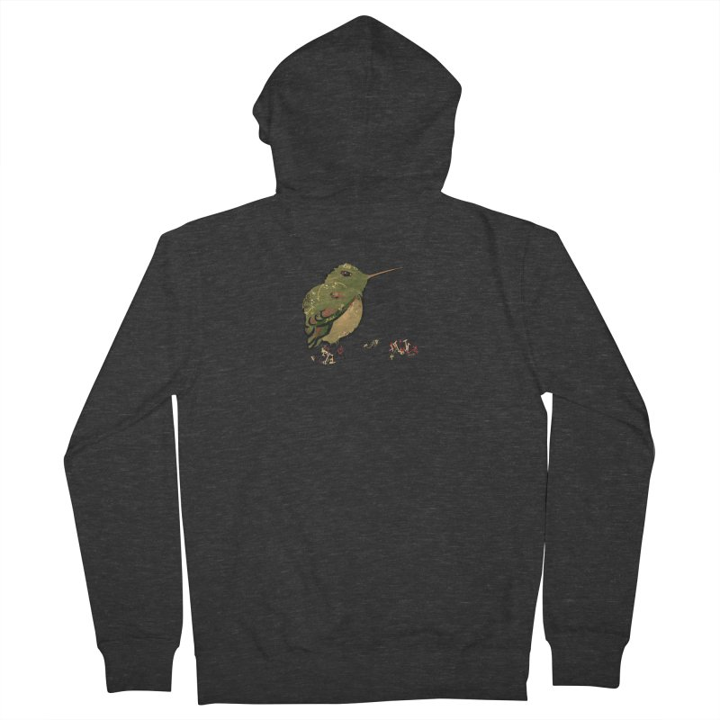 Tiny Hummingbird (Olive) Men's Zip-Up Hoody by VanillaKirsty's Artist Shop