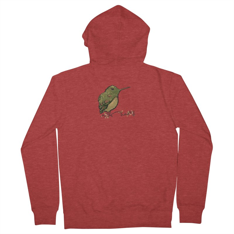 Tiny Hummingbird (Olive) Men's Zip-Up Hoody by VanillaKirsty's Artist Shop