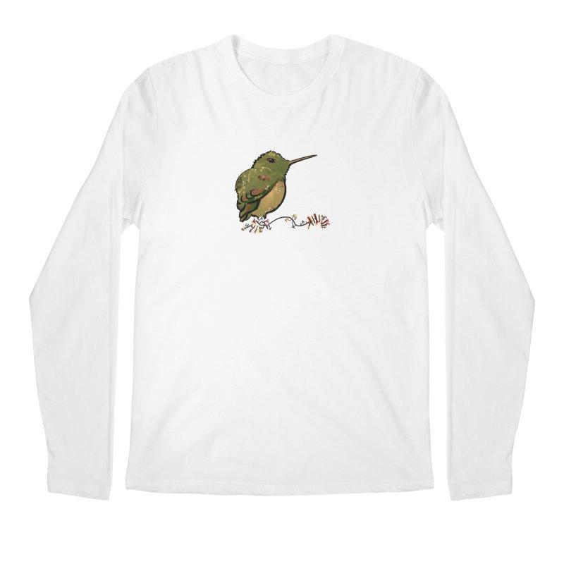 Tiny Hummingbird (Olive) Men's Longsleeve T-Shirt by VanillaKirsty's Artist Shop