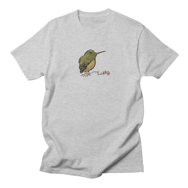 Tiny Hummingbird (Olive) Men's T-shirt by VanillaKirsty's Artist Shop