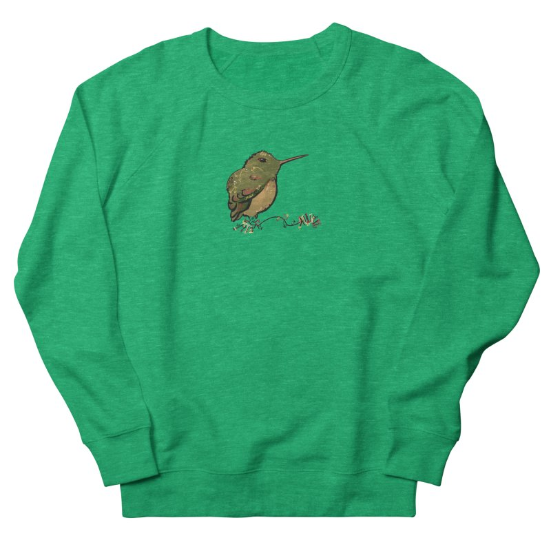 Tiny Hummingbird (Olive) Men's Sweatshirt by VanillaKirsty's Artist Shop
