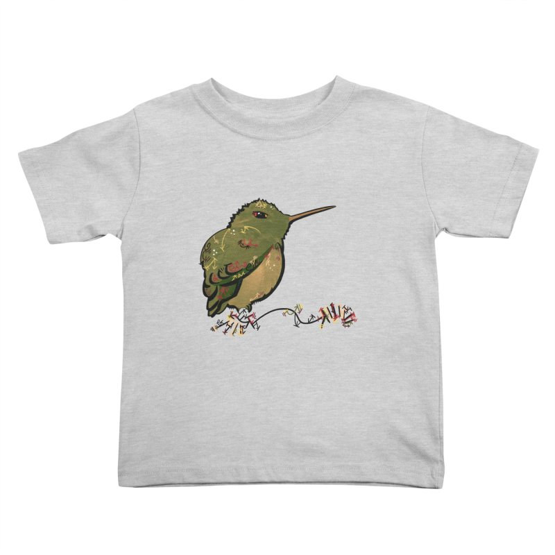 Tiny Hummingbird (Olive) Kids Toddler T-Shirt by VanillaKirsty's Artist Shop