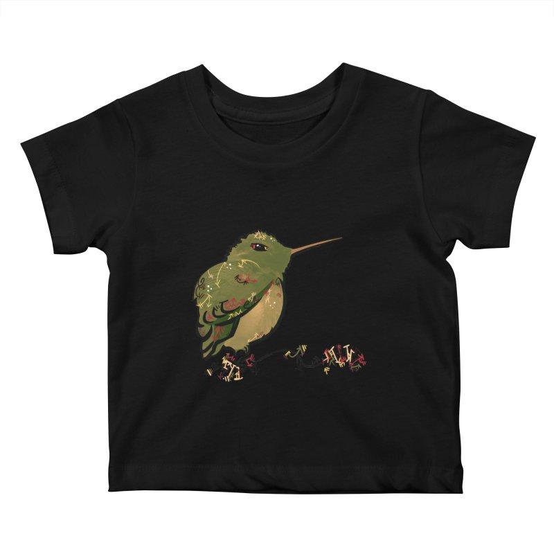 Tiny Hummingbird (Olive) Kids Baby T-Shirt by VanillaKirsty's Artist Shop