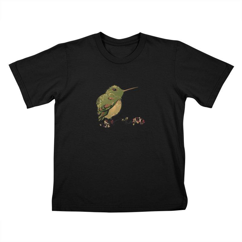 Tiny Hummingbird (Olive) Kids T-Shirt by VanillaKirsty's Artist Shop