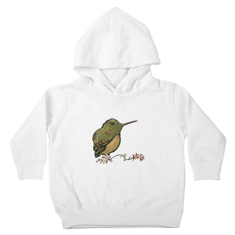 Tiny Hummingbird (Olive) Kids Toddler Pullover Hoody by VanillaKirsty's Artist Shop
