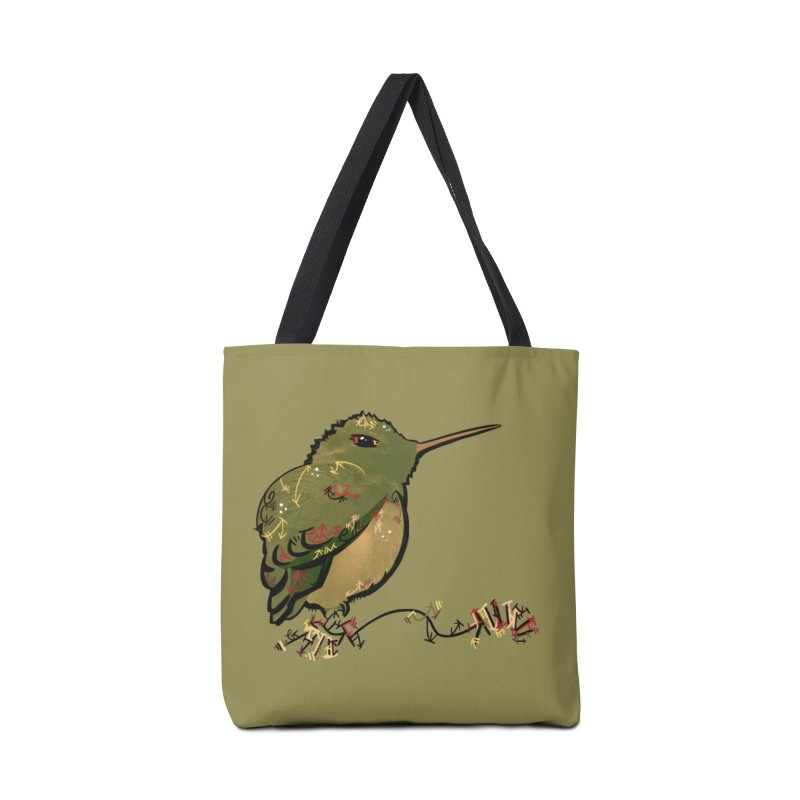 Tiny Hummingbird (Olive) Accessories Bag by VanillaKirsty's Artist Shop