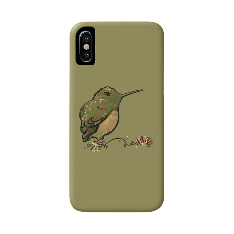 Tiny Hummingbird (Olive) Accessories Phone Case by VanillaKirsty's Artist Shop