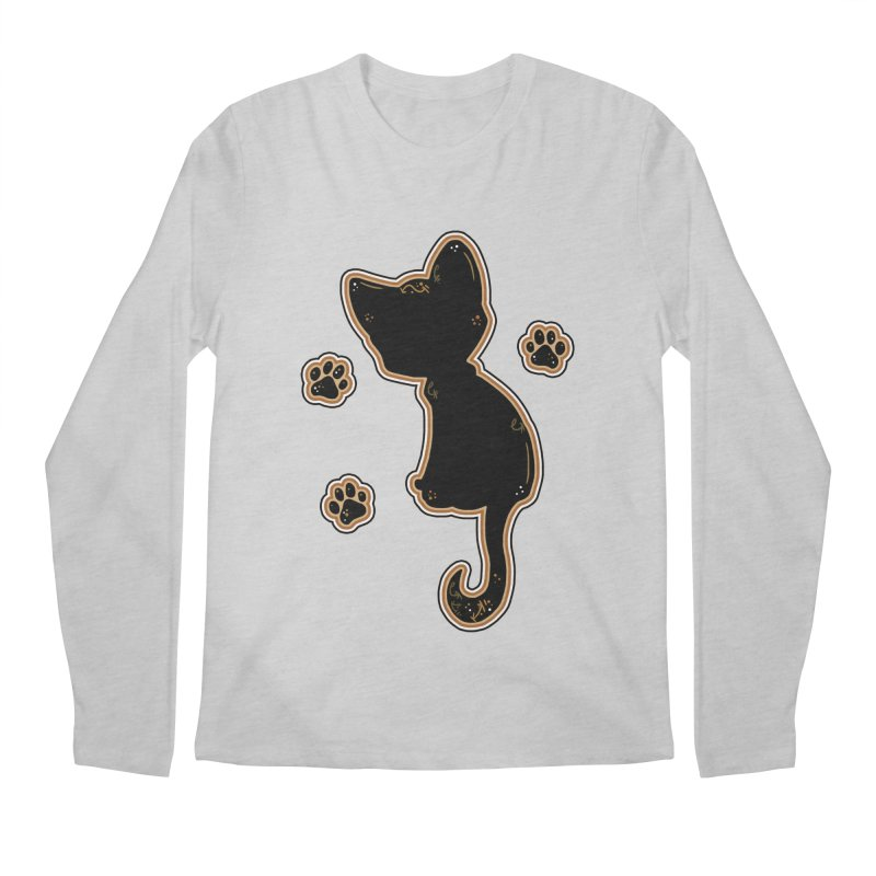 Mystical Little Kitty (Candy Corn I) Men's Longsleeve T-Shirt by VanillaKirsty's Artist Shop