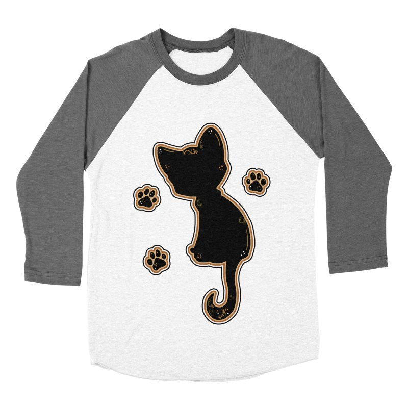 Mystical Little Kitty (Candy Corn I) Women's Baseball Triblend T-Shirt by VanillaKirsty's Artist Shop