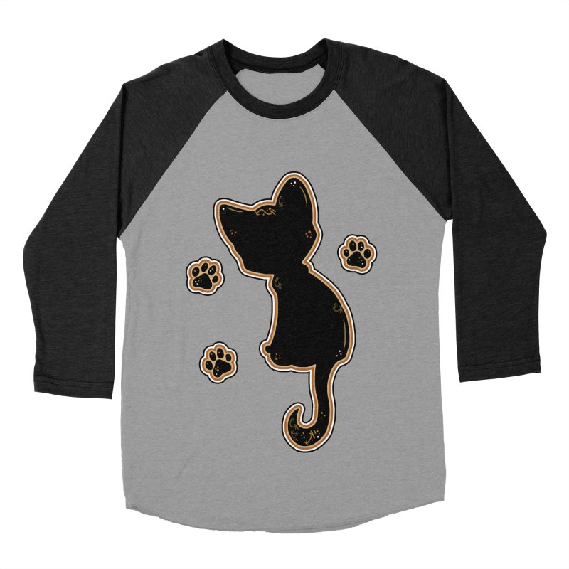 Mystical Little Kitty (Candy Corn I) Men's Baseball Triblend T-Shirt by VanillaKirsty's Artist Shop