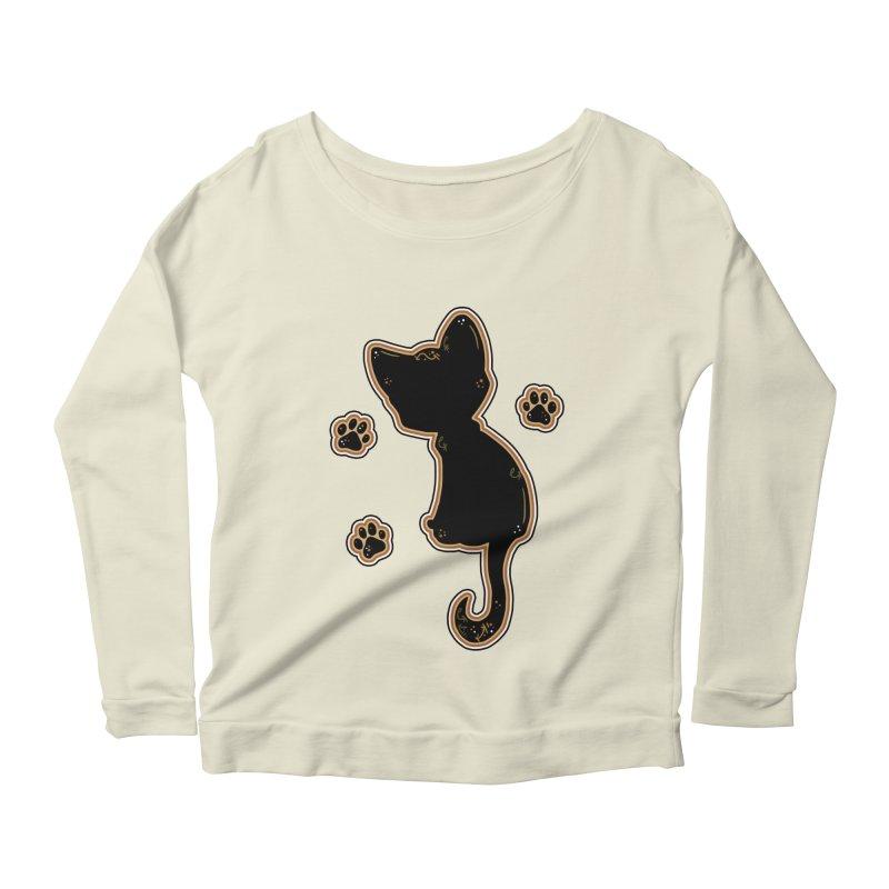 Mystical Little Kitty (Candy Corn I) Women's Longsleeve Scoopneck  by VanillaKirsty's Artist Shop