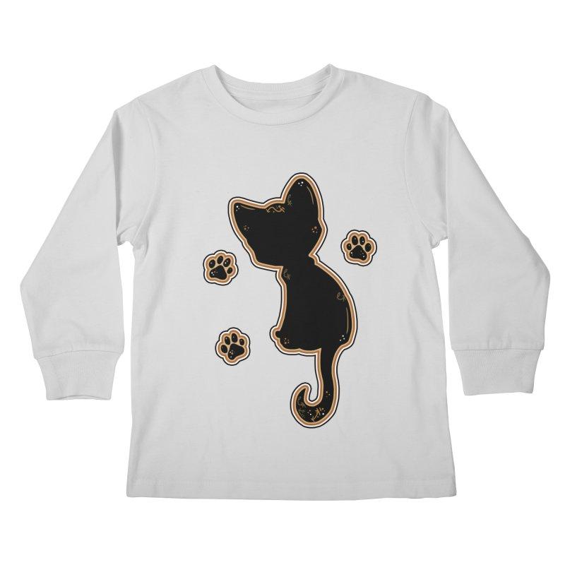 Mystical Little Kitty (Candy Corn I) Kids Longsleeve T-Shirt by VanillaKirsty's Artist Shop
