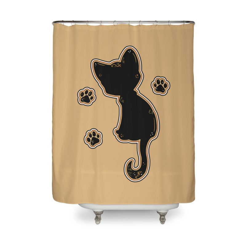 Mystical Little Kitty (Candy Corn I) Home Shower Curtain by VanillaKirsty's Artist Shop