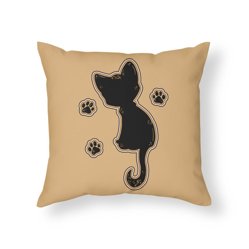 Mystical Little Kitty (Candy Corn I) Home Throw Pillow by VanillaKirsty's Artist Shop