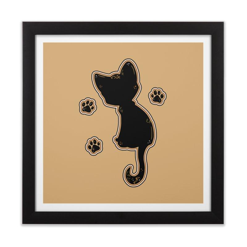 Mystical Little Kitty (Candy Corn I) Home Framed Fine Art Print by VanillaKirsty's Artist Shop