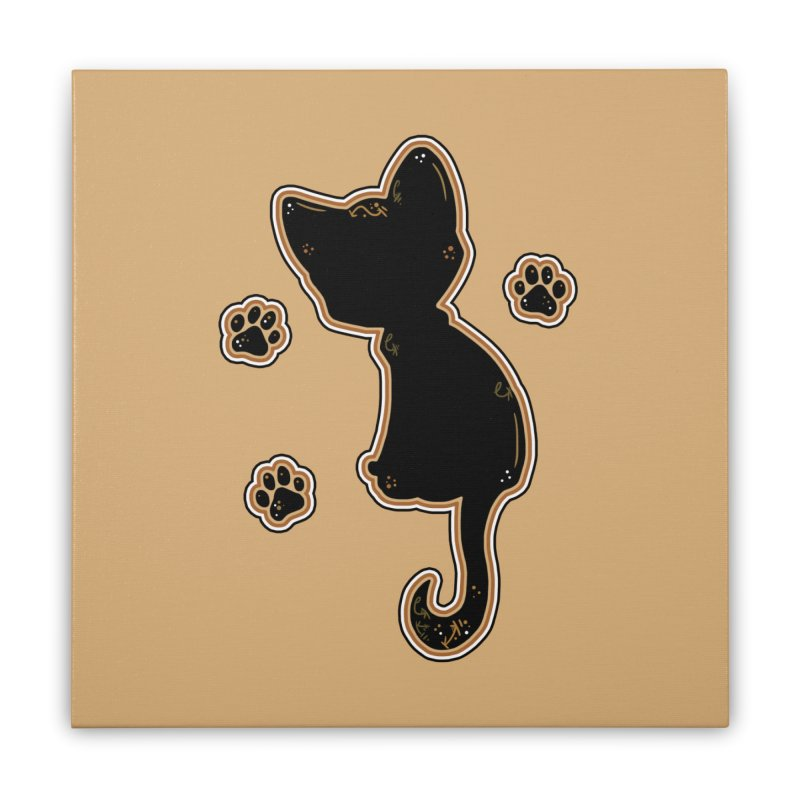 Mystical Little Kitty (Candy Corn I) Home Stretched Canvas by VanillaKirsty's Artist Shop