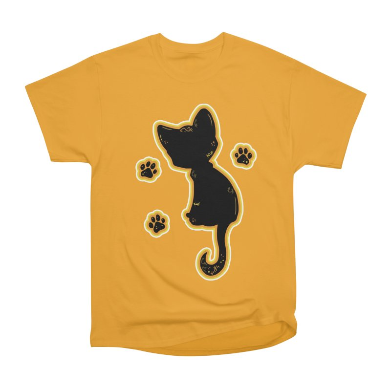 Mystical Little Kitty (Candy Corn II) Men's Heavyweight T-Shirt by VanillaKirsty's Artist Shop
