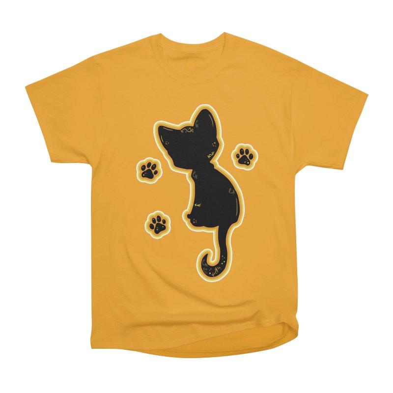 Mystical Little Kitty (Candy Corn II) Women's Heavyweight Unisex T-Shirt by VanillaKirsty's Artist Shop