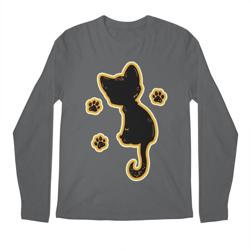 Mystical Little Kitty (Candy Corn II) Men's Longsleeve T-Shirt by VanillaKirsty's Artist Shop