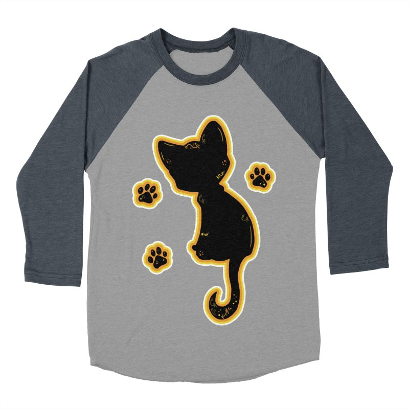 Mystical Little Kitty (Candy Corn II) Women's Baseball Triblend T-Shirt by VanillaKirsty's Artist Shop