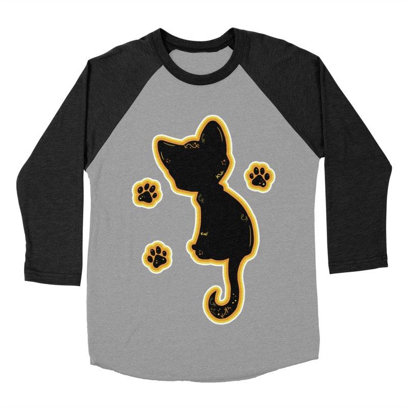 Mystical Little Kitty (Candy Corn II) Men's Baseball Triblend T-Shirt by VanillaKirsty's Artist Shop