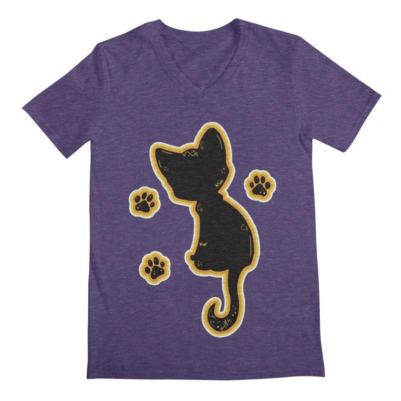 Mystical Little Kitty (Candy Corn II) Men's V-Neck by VanillaKirsty's Artist Shop