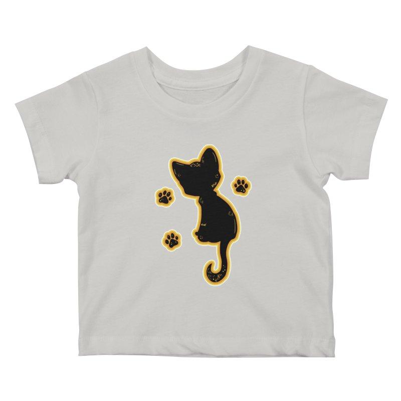 Mystical Little Kitty (Candy Corn II) Kids Baby T-Shirt by VanillaKirsty's Artist Shop
