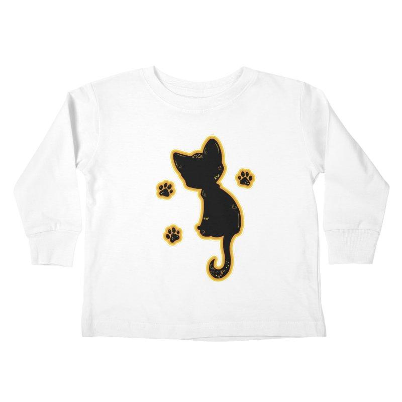 Mystical Little Kitty (Candy Corn II) Kids Toddler Longsleeve T-Shirt by VanillaKirsty's Artist Shop