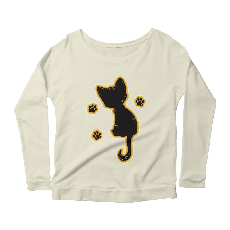 Mystical Little Kitty (Candy Corn II) Women's Longsleeve Scoopneck  by VanillaKirsty's Artist Shop