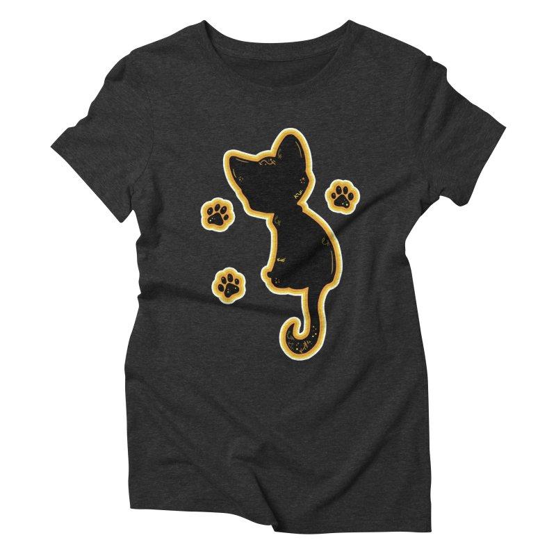Mystical Little Kitty (Candy Corn II) Women's Triblend T-Shirt by VanillaKirsty's Artist Shop