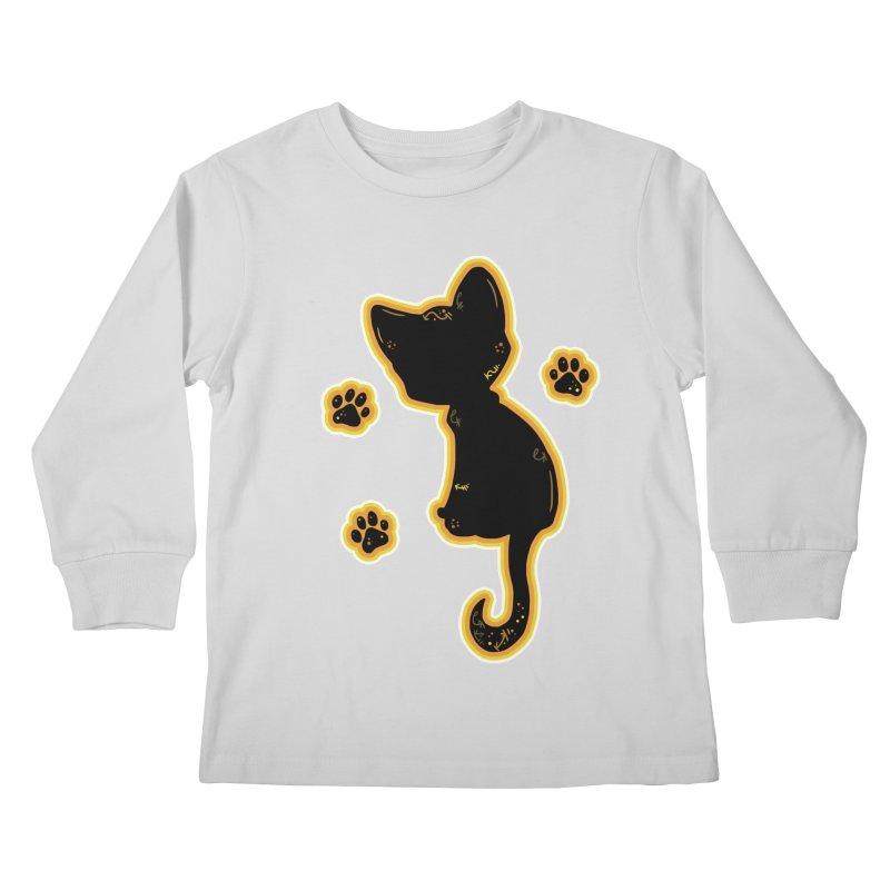 Mystical Little Kitty (Candy Corn II) Kids Longsleeve T-Shirt by VanillaKirsty's Artist Shop