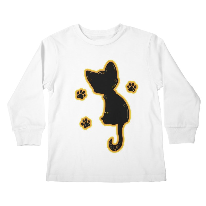 Mystical Little Kitty (Candy Corn II) Kids Longsleeve T-Shirt by VanillaKirsty's Artist Shop