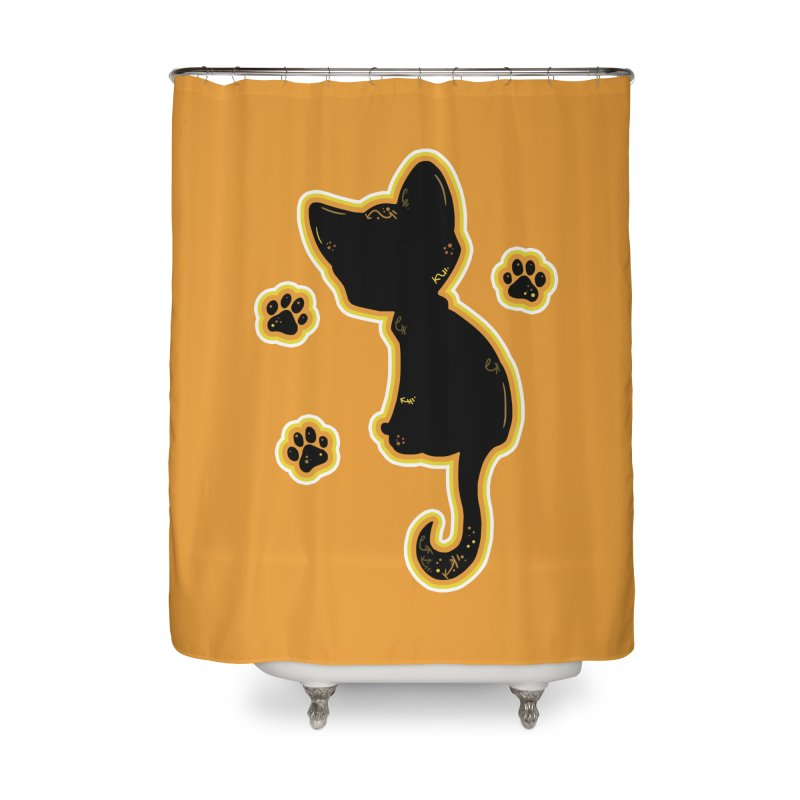 Mystical Little Kitty (Candy Corn II) Home Shower Curtain by VanillaKirsty's Artist Shop