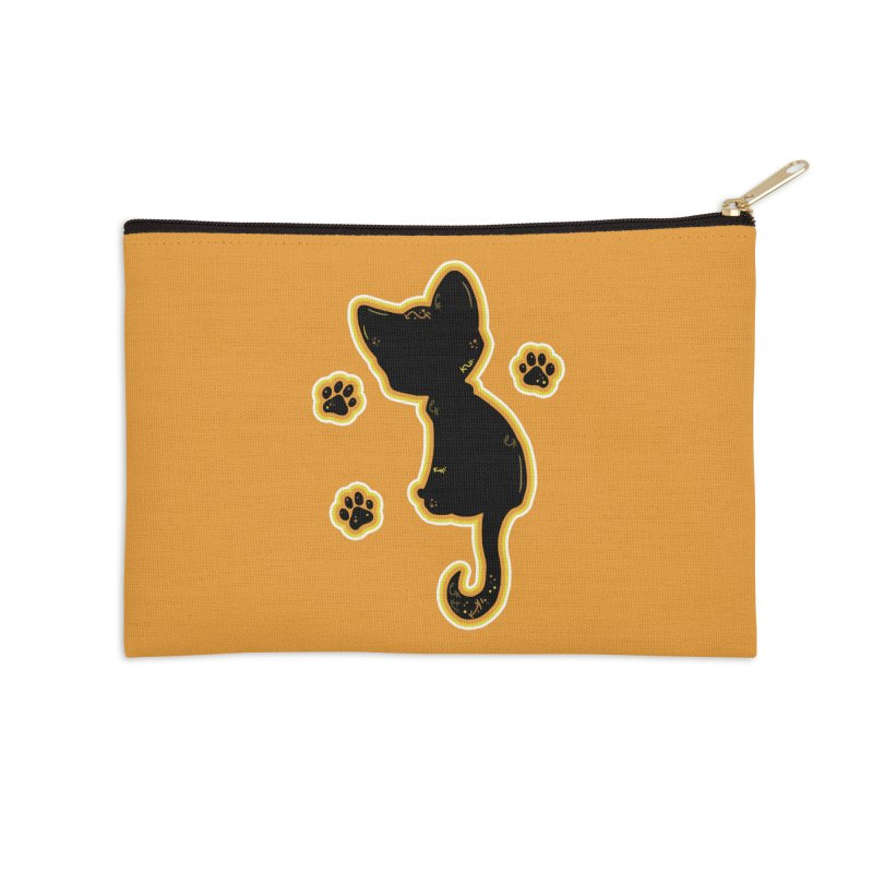 Mystical Little Kitty (Candy Corn II) Accessories Zip Pouch by VanillaKirsty's Artist Shop