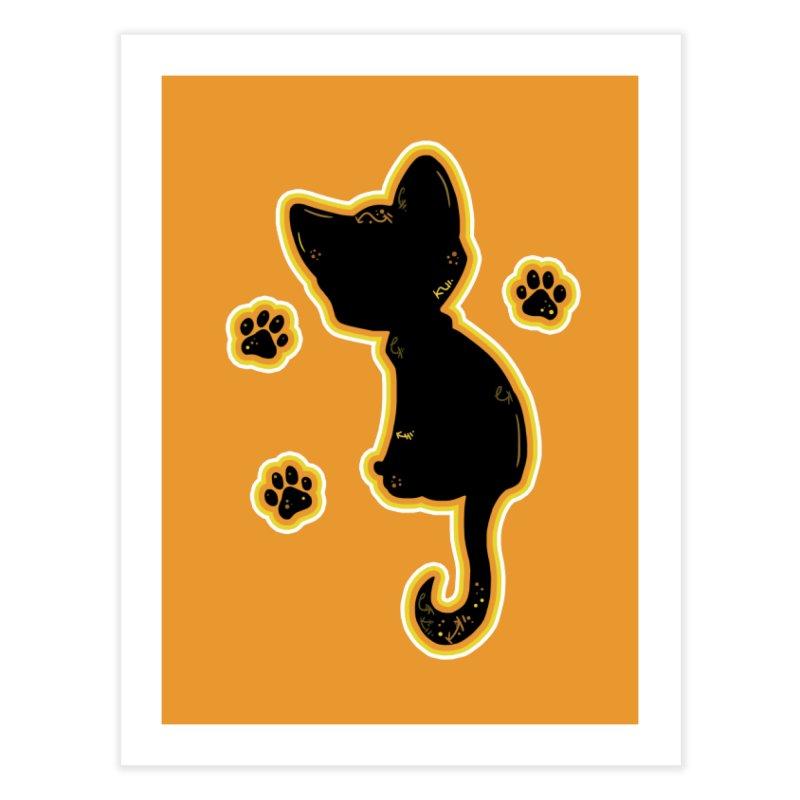 Mystical Little Kitty (Candy Corn II) Home Fine Art Print by VanillaKirsty's Artist Shop