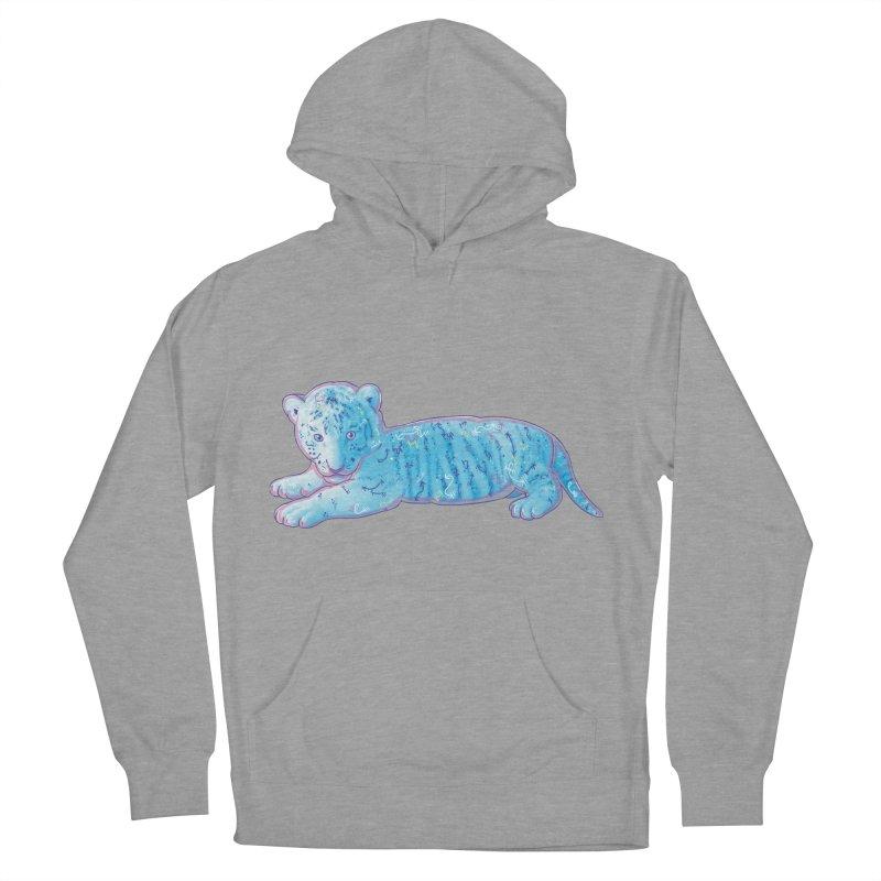 Little Blue Tiger Cub Women's Pullover Hoody by VanillaKirsty's Artist Shop