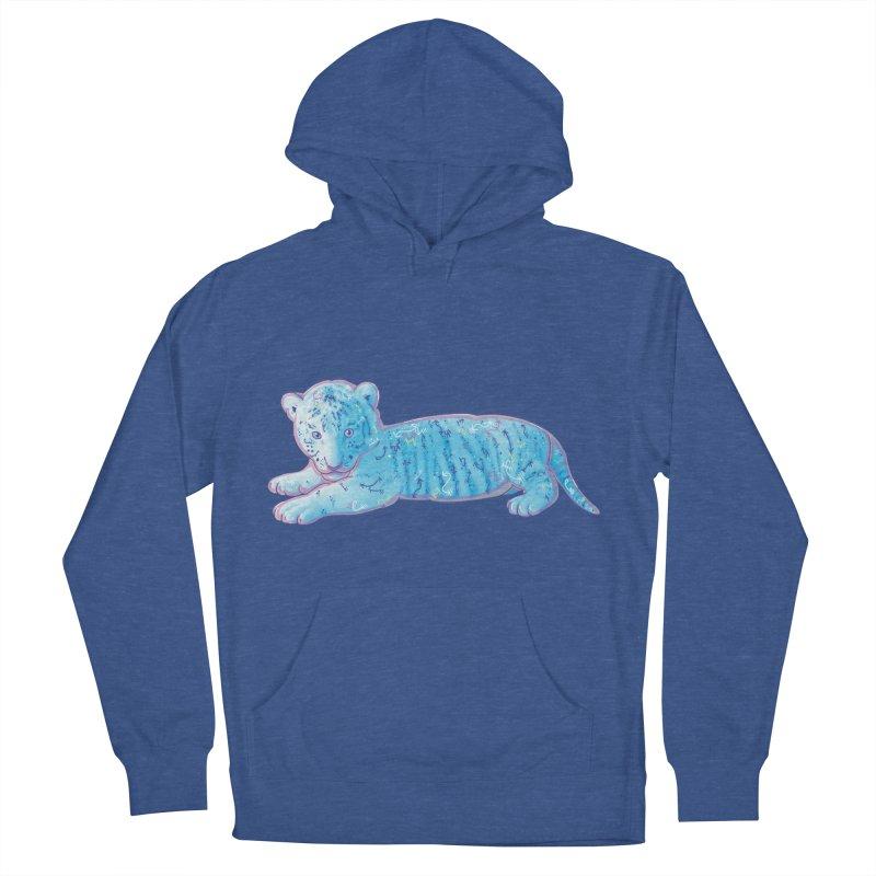 Little Blue Tiger Cub Men's Pullover Hoody by VanillaKirsty's Artist Shop
