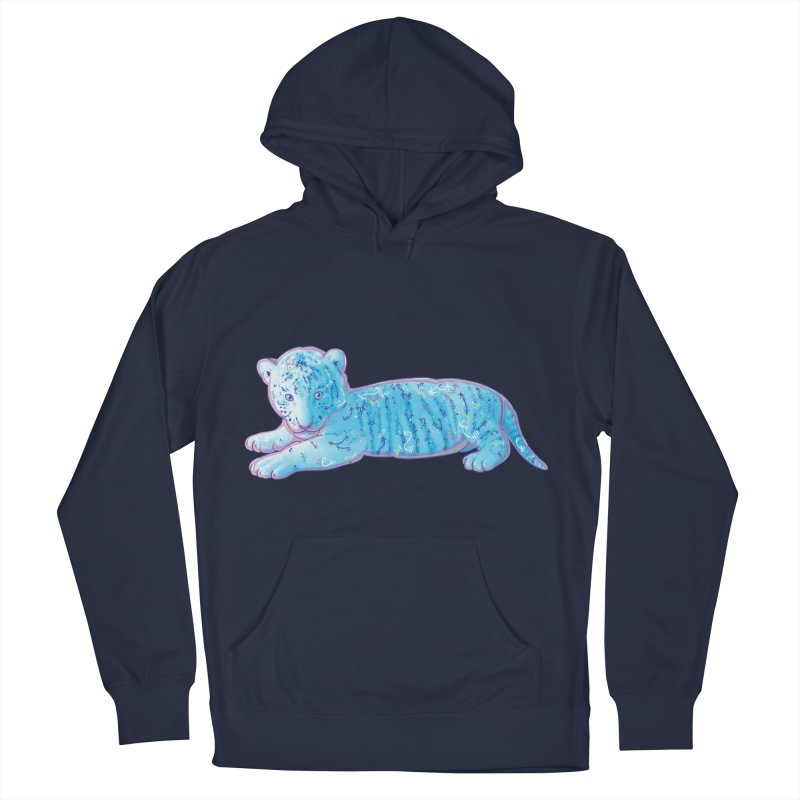 Little Blue Tiger Cub Men's Pullover Hoody by VanillaKirsty's Artist Shop