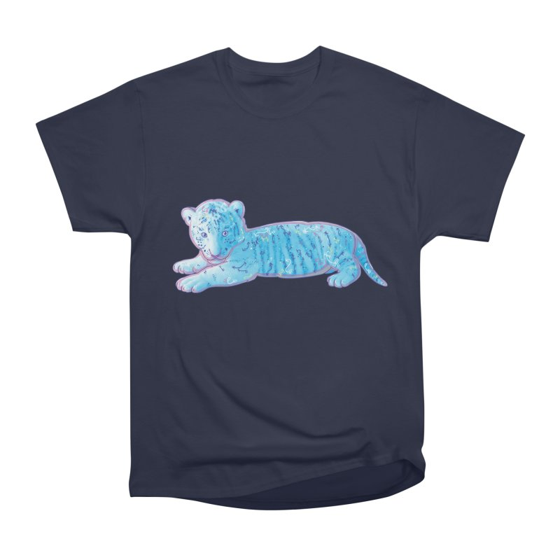 Little Blue Tiger Cub Men's Heavyweight T-Shirt by VanillaKirsty's Artist Shop