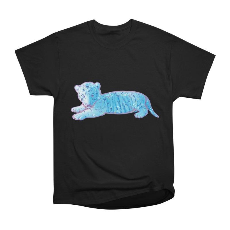 Little Blue Tiger Cub Men's Heavyweight T-Shirt by VanillaKirsty's Artist Shop
